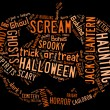 Word Cloud dealing with Halloween — Stock Photo #34120189