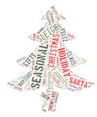 Word Cloud showing words dealing with the Christmas Season — Stock Photo