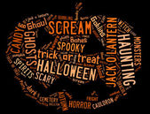 Word Cloud dealing with Halloween — Stock Photo
