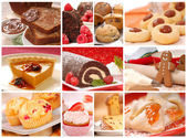 Collage showing a variety of baked goods — Stock Photo