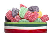 Holiday gumdrop candies — Stock Photo