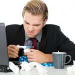 Businessman with flu — Stock Photo #6301777