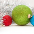 Royalty-Free Stock Photo: Colored balls and garland