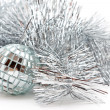 Stock Photo: Mirror ball and the garland