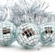 Christmas decorations: balls and garland — Stock Photo