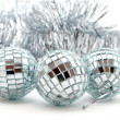 Stock Photo: Christmas decorations: balls and garland