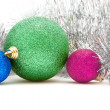 Colored Christmas decorations — Stock Photo