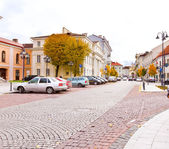 Beautiful street in Vilnius — Stock Photo