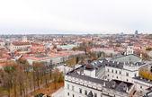 立陶宛首都维尔纽斯的顶视图 — 图库照片
