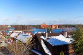 Vista sobre el castillo de trakai — Foto de Stock
