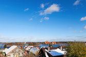 Trakai kalesi, litvanya'nın ünlü dönüm noktası — Stok fotoğraf