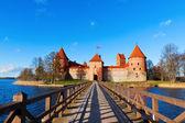 Lithuania, Trakai: front view to the castle — Stock Photo