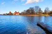 Trakai: view of the medieval castle — Zdjęcie stockowe