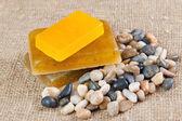 Handmade soap with herbs — Stock Photo
