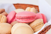 Macaroons with various fruit fillings — Stock Photo