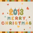 Royalty-Free Stock Vektorfiler: Christmas Card. Vector Illustration