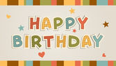 Illustration for happy birthday card — Stock Vector