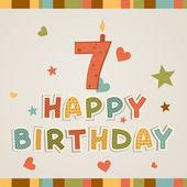 Happy birthday. number Seven — Stock Vector
