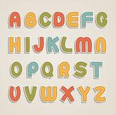 Alphabet de bande dessinée — Vecteur