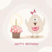 Bird Birthday Cake — Stock Vector