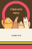 Children's Menu Card Design template. — Stock Vector