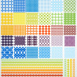 Vector de stock : Set of geometric seamless patterns.