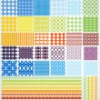 Set of geometric seamless patterns. — Stock vektor