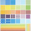 conjunto de patrones geométricos inconsútiles — Vector de stock