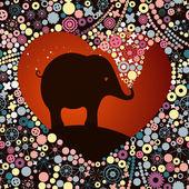 Postcard Valentine's Day — Stock Vector