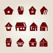 Vector houses — Stock Vector