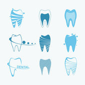 Set of dental icons — Stock Vector