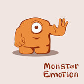 Friendly monster — Stock Vector