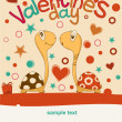 Royalty-Free Stock Vectorafbeeldingen: Postcard Valentine\'s Day