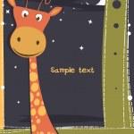 Cute card with giraffe. — Stock Vector