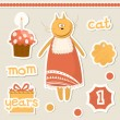 Cute baby elements. — Stock Vector