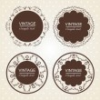 Stock Vector: Vintage lace frames.