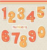 Cute cartoon numbers — Stock Vector