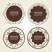 Vintage lace frames. — Stock Vector
