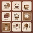 Stock Vector: Food icons set. Vector symbols.