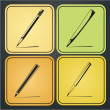 Set of vector design elements of the pencil icon — Stock Vector