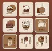 Food icons set. Vector symbols. — Stock Vector