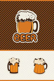 Beer banner — Stock Vector