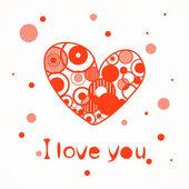 Coeurs d'amour rouge — Vecteur