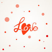 "Vector freehand letters ""love"" text doodles — Stock Vector"