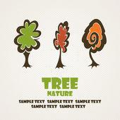 Illustration tree set — Stock Vector