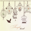Vintage bird cages. — Vecteur
