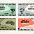 Cinema Tickets Set — Vettoriali Stock