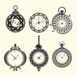 Set of vintage clocks — Vettoriale Stock #25695045