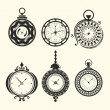 Vetorial Stock : Set of vintage clocks