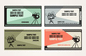 Cinema Tickets Set — Stock Vector